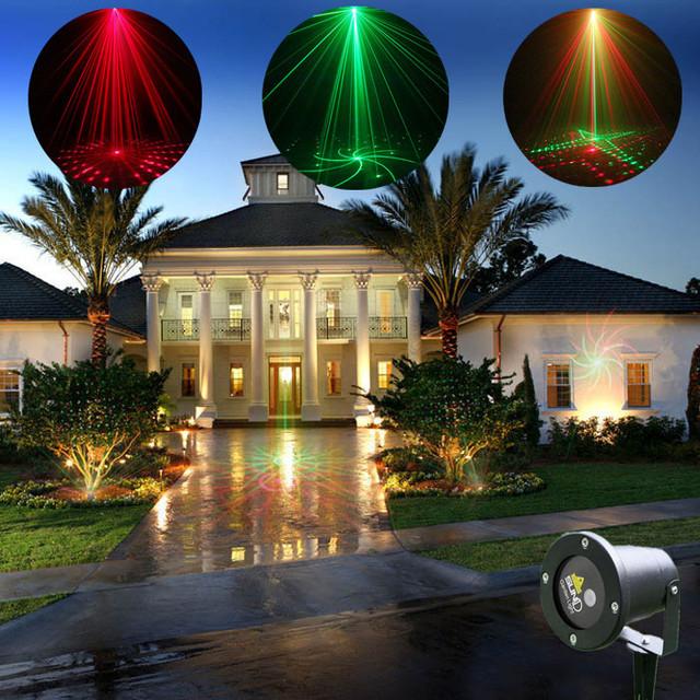 weihnachten outdoor garten dekoration licht mini projektor laser 8 muster rot gr n wasserdicht. Black Bedroom Furniture Sets. Home Design Ideas