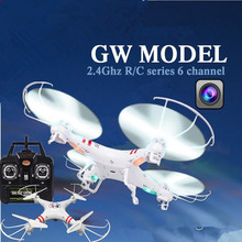 2016 Hot Sale Profession Drones Headless RC Helicopter Mode 2.4G 4CH 6 Axle Quadcopter RTF with Camera Toys Vs X8c X8G h12c x5c