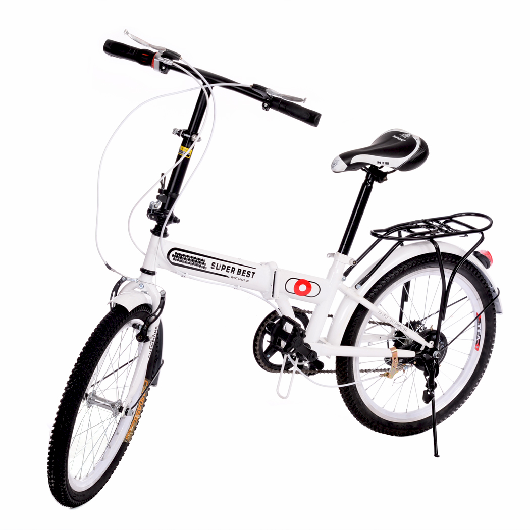 2016 New Unisex 20'' 6 Speeds folding bicycle/folding bike Aluminum Frame Casual Bicycle Outdoor Cycling 2 colors(China (Mainland))
