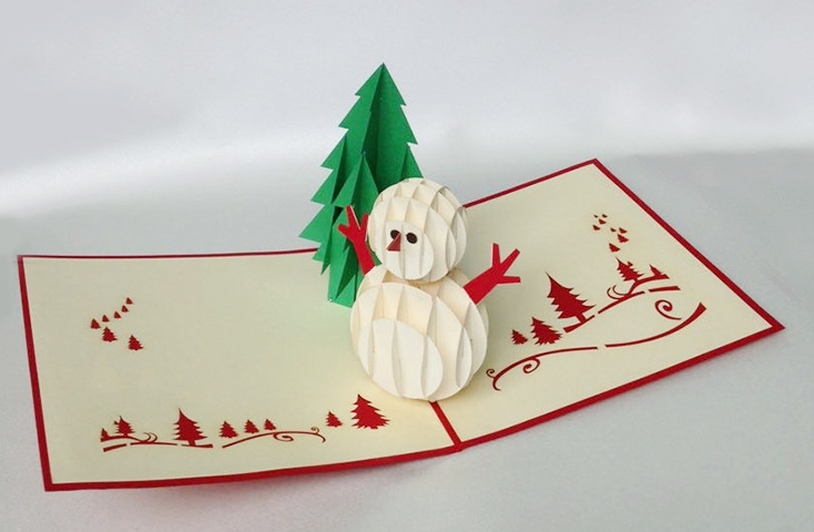 aliexpress   buy 5pcs lot 3d pop up card christmas