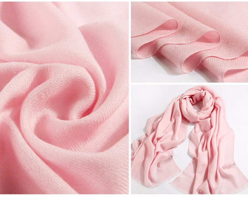 Pure wool ladies winter scarves snood luxury brand candy color shawls and wraps large foulards femme oversize 200*60CM