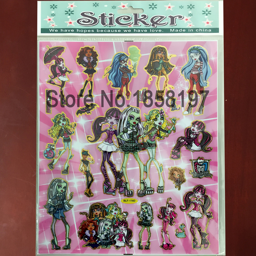 Achetez en gros autocollants monster high en ligne des for Stickers monster high pour chambre