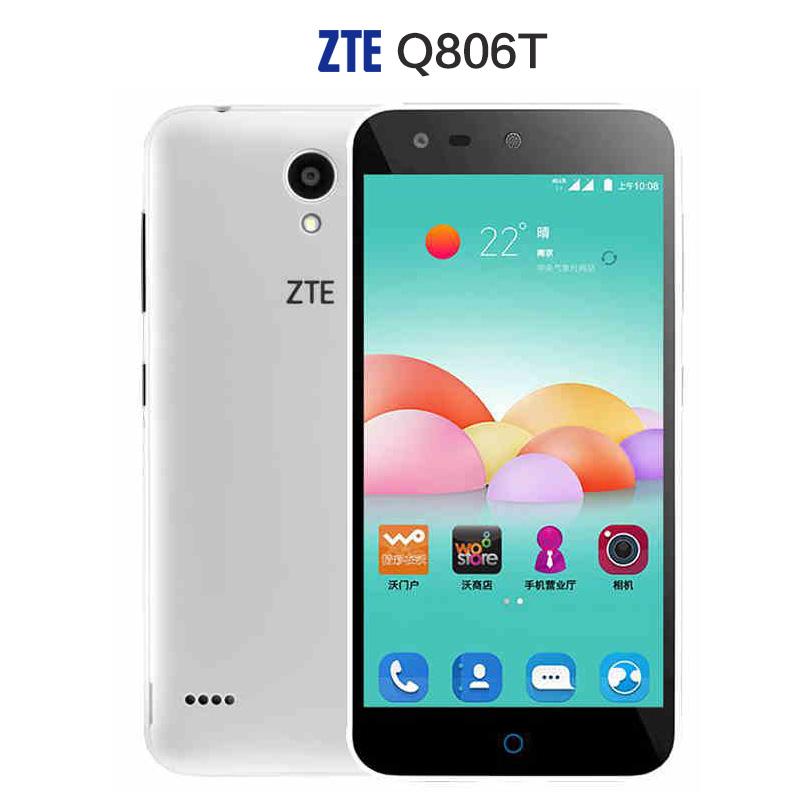 "Original ZTE Q806T 4G LTE Mobile Phone MTK6735 Quad Core Android 5.0"" 1280X720 1GB RAM 8GB ROM 13.0MP OTG Dual Sim Smartphone(China (Mainland))"