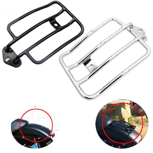 Refit Motorcycle Luggage Rack Autobike Aluminum Luggage Carrier Support Case Tail Box Shelf Black