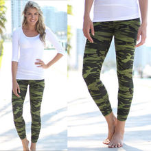 Hot Women Lady Camouflage Skinny Jeggings Stretch Slim Leggings Army Green Pencil Pants Trousers Skinny New Clothing