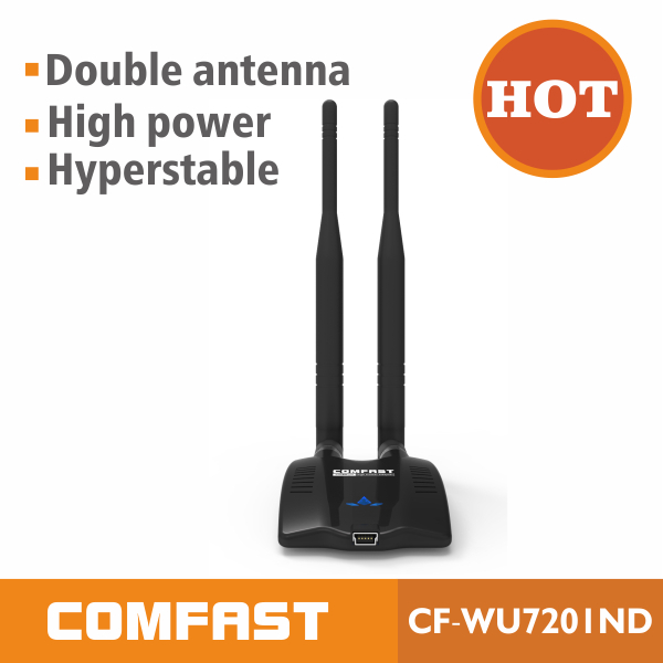 usb wireless adapter external antenna COMFAST CF-WU7201ND android wifi dongle tv box hdmi to wifi adapter free shipping(China (Mainland))
