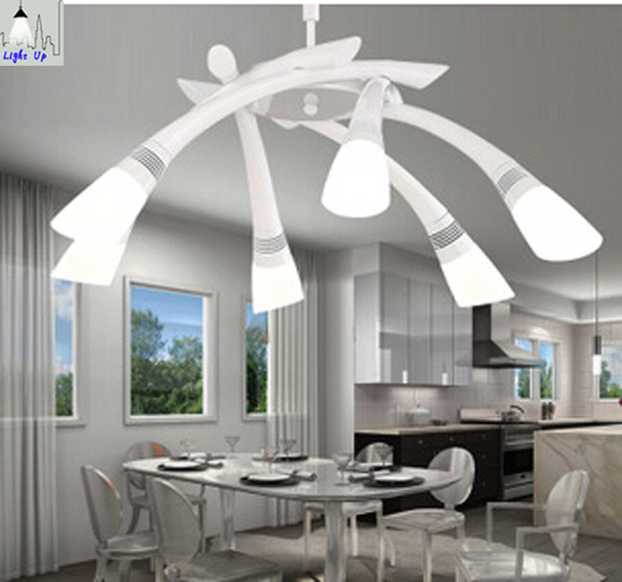 Buy modern fashion 6 heads led acryl dining room pendant lights for living room - Modern pendant lighting for dining room ...