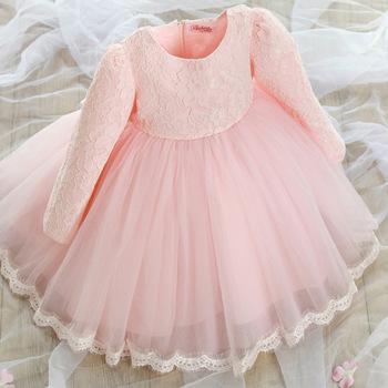 Платье ребенка крещение платье для девочки принцесса ну вечеринку на день рождения платье для девочки Chirstening платье для новорожденных 4 - 8 лет