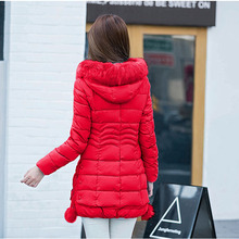 Cultivate one's morality of new fund of 2016 winter heavy hair led bulb in the long down jacket cotton dress up