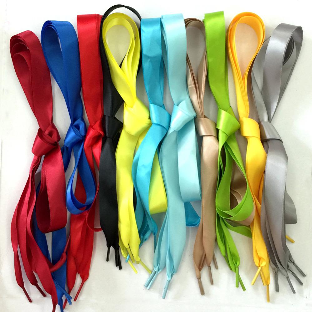 80cm/31.5 Inch Long Children Kids Shoelaces Flat Satin Ribbon Shoe Laces f. Sneaker Sport Shoes Fantastic