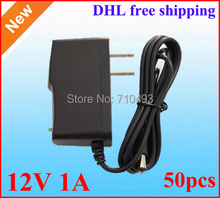Wholesale 50pcs / Lot AC / DC 12V Power adapter 12V 1A power supply adaptor With IC Protection DHL Free shipping(China (Mainland))