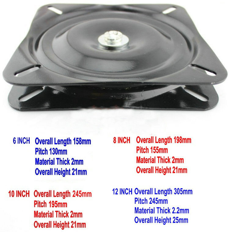Wholesale 6Inch(150MM) Black Lacquer Baked and Solid Steel Ball Bearing Lazy Susan,Swivel Plate, Swivel Turntable Lazy Susan(China (Mainland))