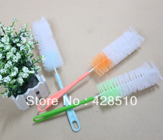 Newest Baby Feeding Baby Bottle Brushes 5pcs lot Mixed Color Free Shipping(China (Mainland))