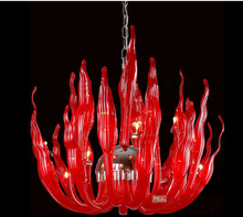 Italy Murano Glass Chandeliers Light Modern Flame Chandelier Light Creative Art Glass chandelier Light (20 Head) Free shipping(China (Mainland))