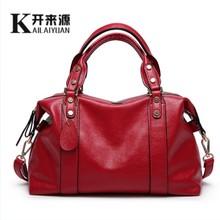 Buy KLY 100% Genuine leather Women handbag 2017 New trend all-match Fashion Handbag Shoulder Messenger Handbag for $29.40 in AliExpress store