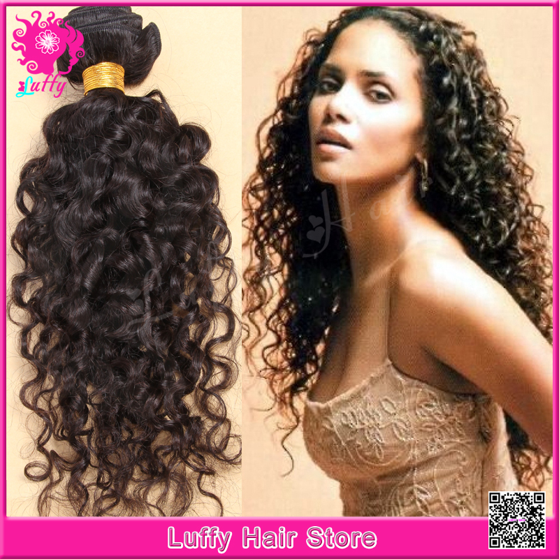 10-26Inch Unprocessed Cambodian Virgin Hair Super Curly Luffy Hair Curly  Soft Hair Bundles For Sale