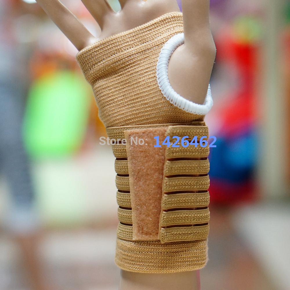 ventilation elastic Palm Hand Support Wrist Sleeve Wrap Sports Gloves Around Wrist adjustable Strap Support glove pair