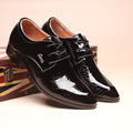 Men shoes pointed toe dress shoes big size 5 5 11 5 solid lace up chaussure