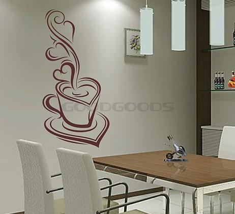 New 2015 diy wall sticker mural art dining room cafe for Diy photo wall mural