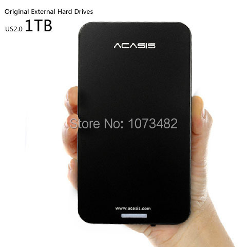 Free shipping ACASIS Original HDD 1TB Storage 2.5'' USB2.0 External Hard Drive Disk Plug and Play Have power switch Good price(China (Mainland))