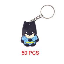 Dos desenhos animados do ponto PVC porte clef chaveiro anel chave titular olá kitty cat marvel heros do anel chave da corrente chave(China)