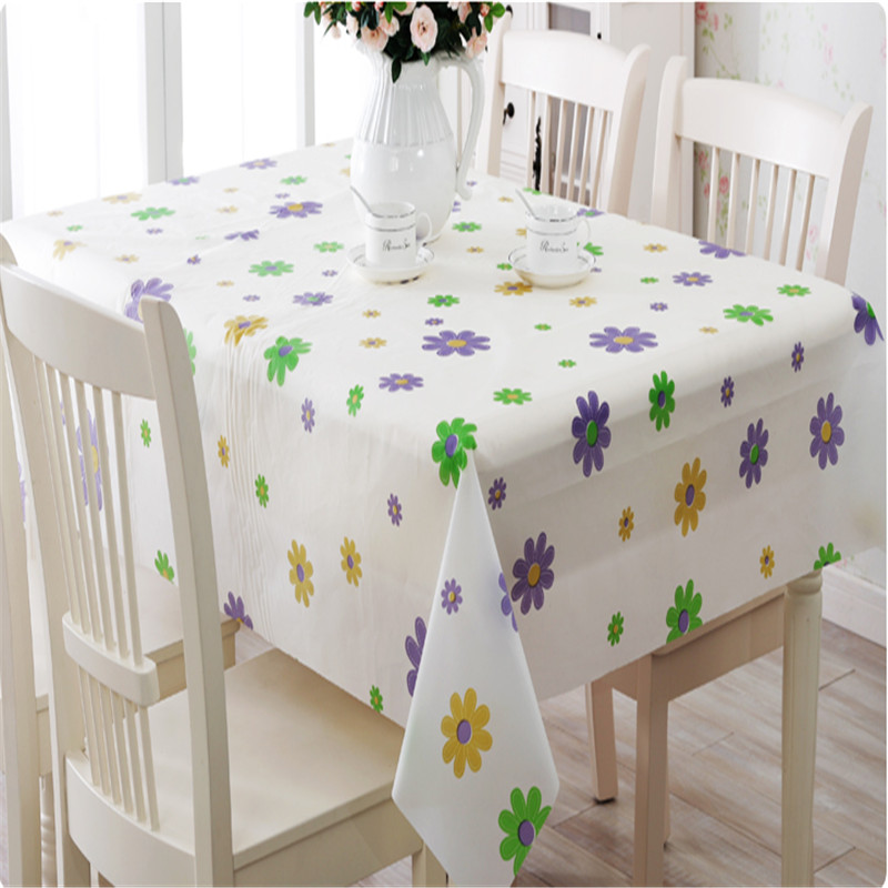 Home Decor Outdoor Party PVC Table Cloth Plastic Waterproof Dining Tabelcloth Flower Letter Table Cover Overlay(China (Mainland))