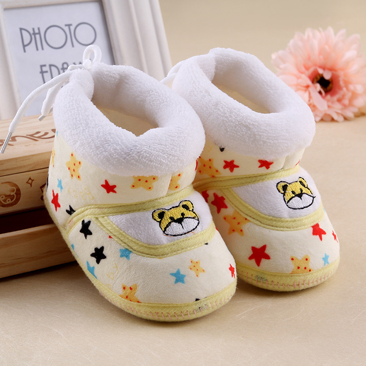 fashion causal soft bottom cotton baby first walkers shoes