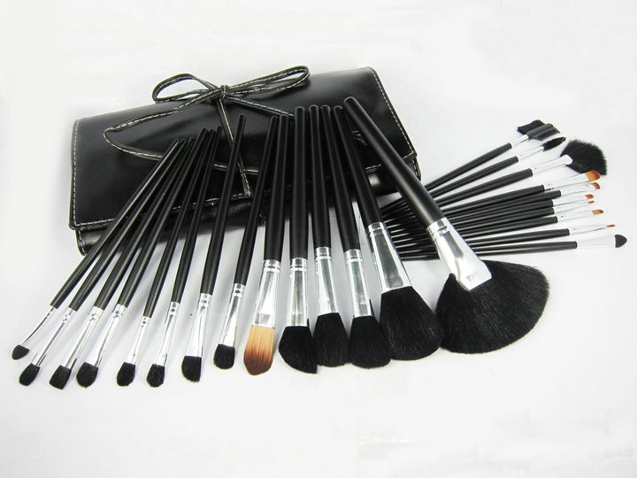 new Fashion Hot Sale Beauty Cosmetic Brushes Makeup Brush Set 24Pcs/Set Good Quality Hair Round Box Replace Mac(China (Mainland))