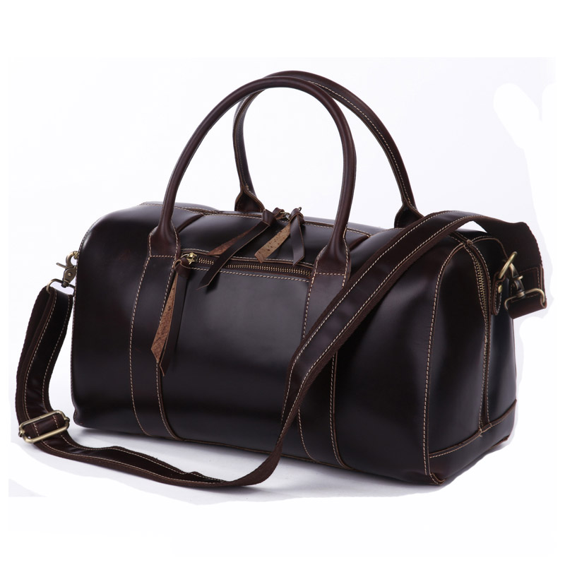 2015 new designer brand fashion high quality genuine leather travel bag men's travel shoulder bags duffel bag carry on luggage(China (Mainland))