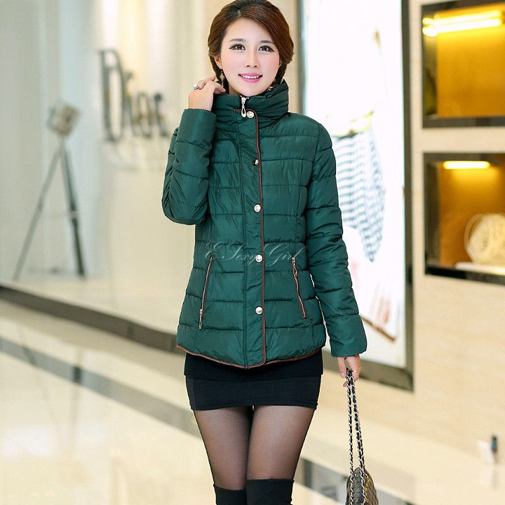 New Fashion Women's Quilted Winter Coat Fur Collar Hoodied Jacket Parka Outwear 35(China (Mainland))