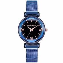 Lüks Marka Yıldızlı Gökyüzü Kadınlar Saatler Gül Altın Manyetik Bayanlar kol saati Moda Rahat Su Geçirmez Kadın Saat Kol Saatleri(China)