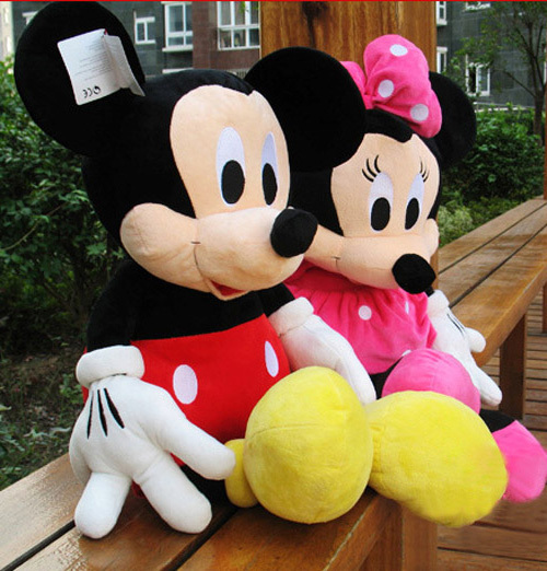 Фотография Free Shipping 2014 Hot Sale new 5# 120CM 1PCS giant American Mickey Mouse And Minnie Mouse Stuffed animals plush Toys As Gift