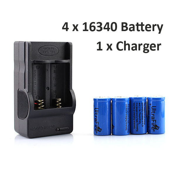 New 4x 16340 CR123A Rechargeable Battery Wall Charger