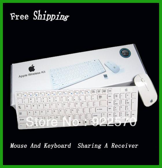 Free Shipping Wholesale Wireless Keyboard And Mouse, For Apple Wireless Mouse Keyboard  Set