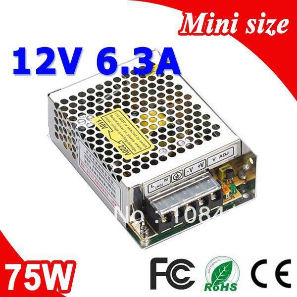 MS-75-12 75W Mean well LED Power Suply 12V 6.3A Transformer 110V 220V AC to DC Output(China (Mainland))