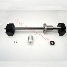 SFU1605 set:SFU1605 L300mm rolled ball screw C7 end machined + 1605 nut BK/BF12 support coupler CNC parts - best store