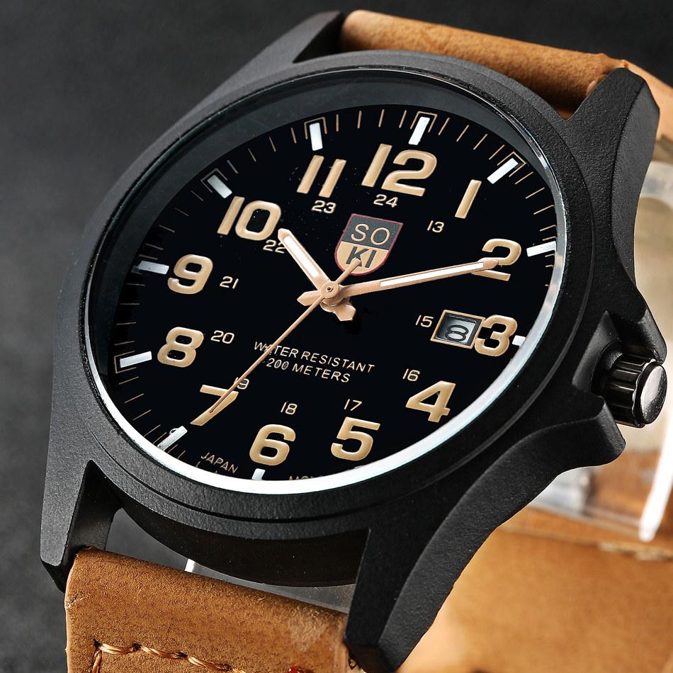 Soki brand hours digital watch relojes para hombre men 39 s - Reloj adhesivo de pared ...