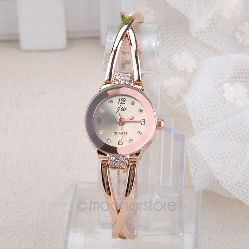 Купить Ювелирные изделия и часы  Best Selling ! Women Elegant Princess Ladies Quartz Analog Bracelet Wrist Watch with Rhinestones Decor for Women MHM526*5 None