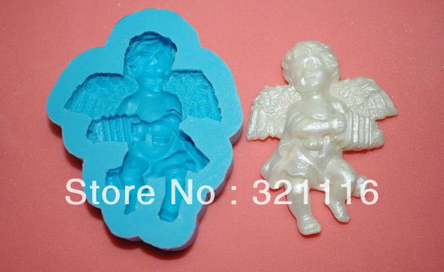 Free Shipping Silicone cake tool,Accordion Angel cutter fondant cake decoration,DAB 3d molds,Cake cutter mold for party,TS39065