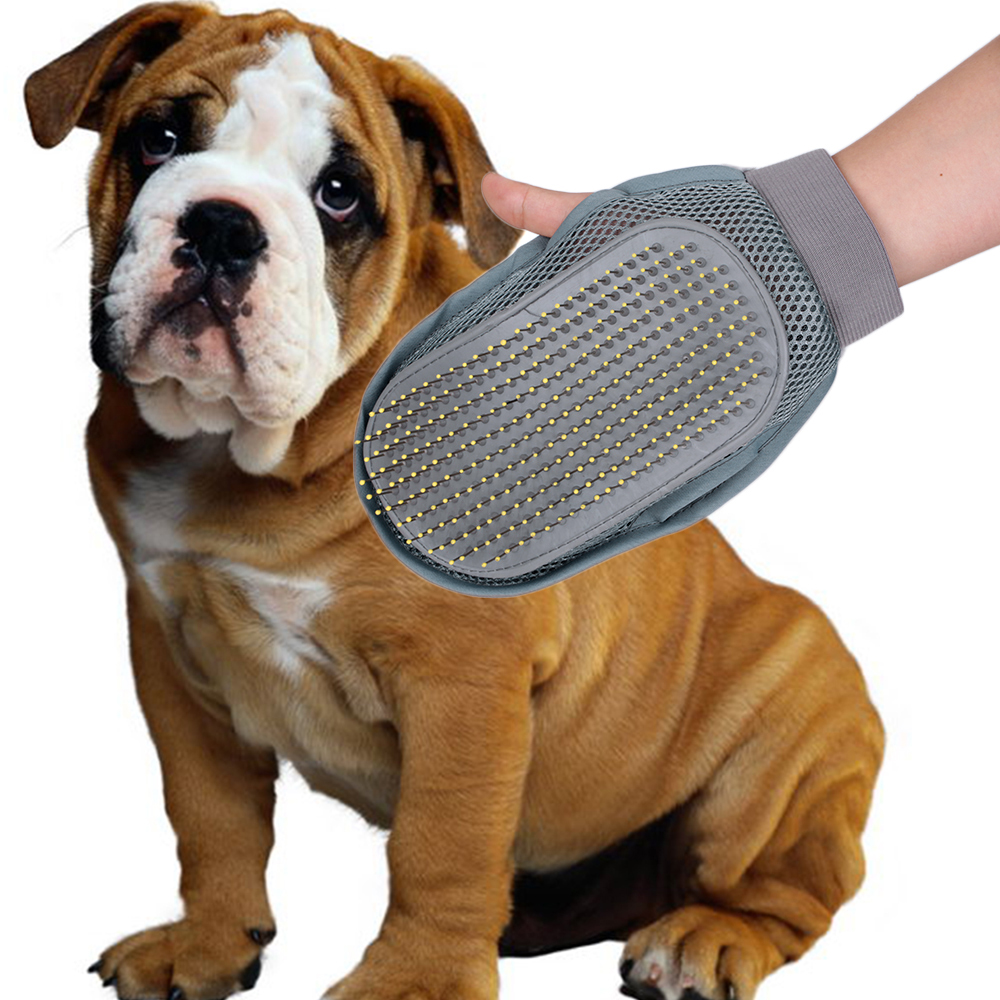 Pet Dog Cat Grooming Groom Glove Puppy Bath Mitt Brush Comb Dog Cleaning Massage Pet Health Supplies Grooming For Dog(China (Mainland))
