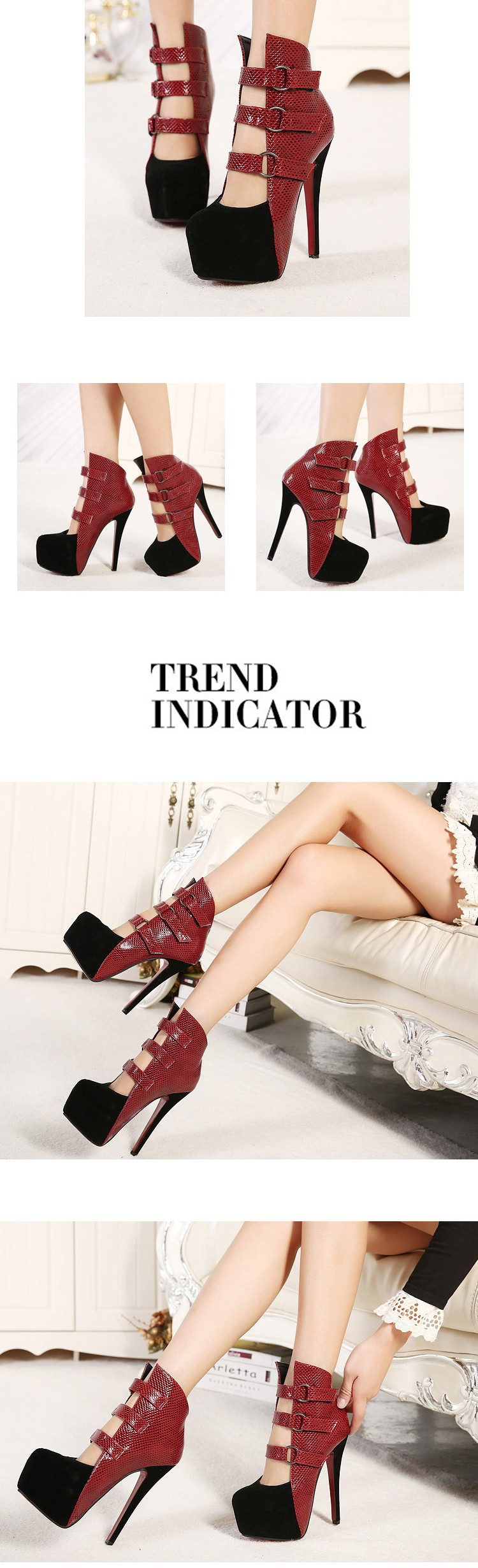 2018 New fashion sexy wedding shoes woman platform red bottom high heels women pumps and women's spring autumn shoes party
