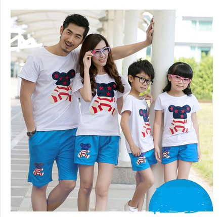 Family fitted summer family packages three new mother and family package shipping large size t-shirt family N605(China (Mainland))