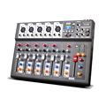 F7 USB Mini Audio Mixer Console with USB Built in effect processor Audio Mixer 6 channel