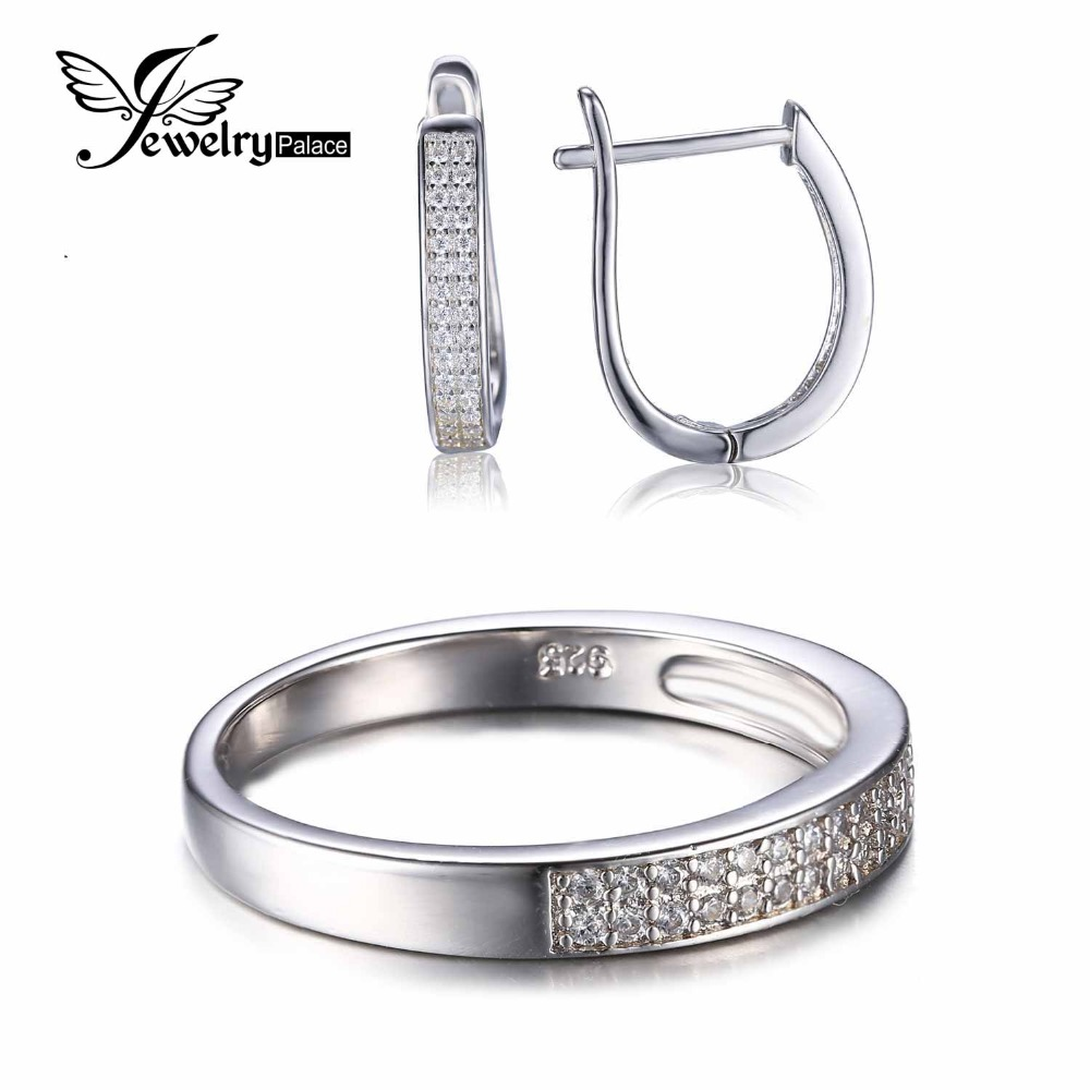 Fashion Engagement Band Ring Earring 925 Sterling Silver Wedding Jewelry Set Brand Vintage Classic 925 Fine Jewelry For Women(China (Mainland))