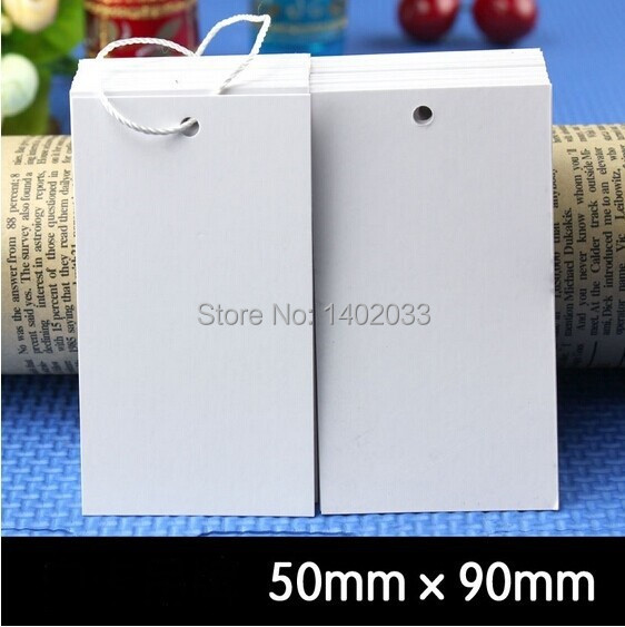 free shipping 200pcs/lot Blank Hang tag,5*9cm white hang tag label, High Quality blank Price hang tag label,Table Number cards(China (Mainland))
