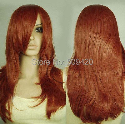 FSX5982Q>> pretty Copper Red Layer Wavy HAIR Wig(China (Mainland))