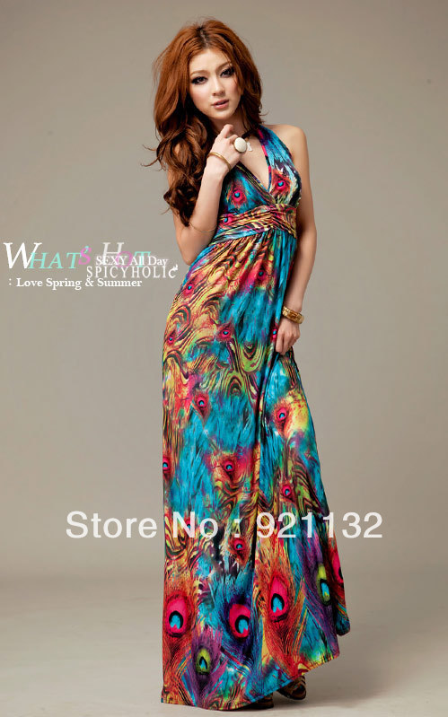 Popular Bohemian Peacock Maxi Dress-Buy Cheap Bohemian Peacock ...