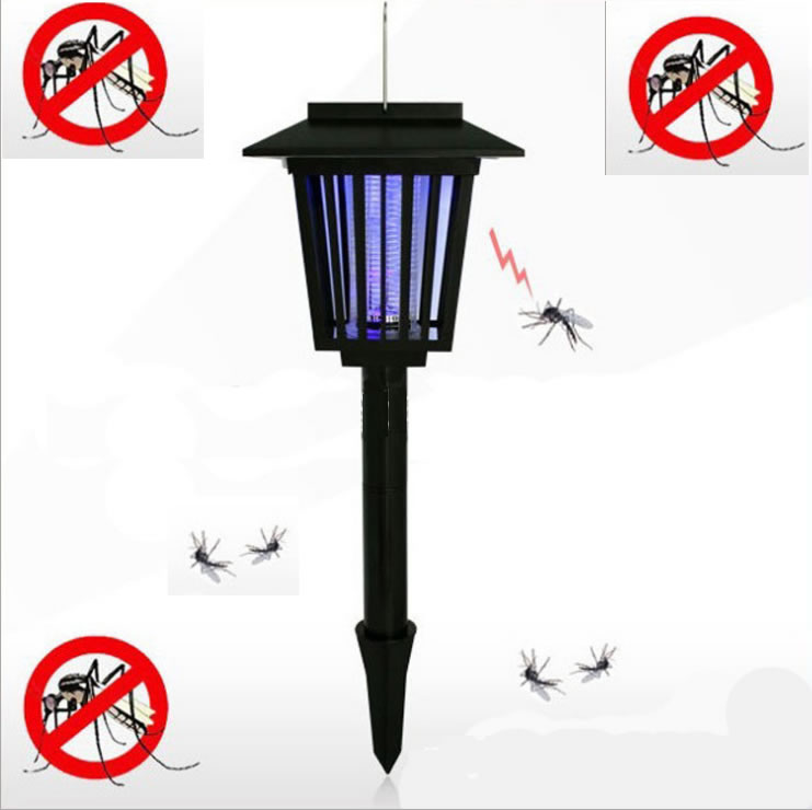 Multifunctional Solar mosquito killer lighting Solar garden light 1pcs(China (Mainland))
