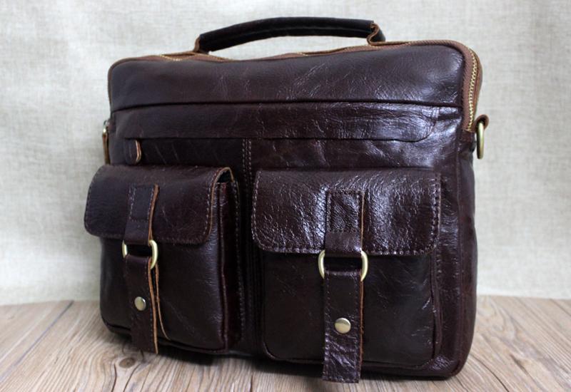 2016 New Arrival Genuine Leather men bags 3 colors men Messenger bag crossbody mens briefcase vintage shoulder leather bags<br><br>Aliexpress