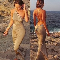 Приключения время спинки платья повязку новой моды женщин сексуальное платье